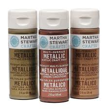 martha stewart crafts metalic u0026 peral colors paint