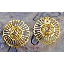 big stud earrings studs matte gold filigree big stud earrings online shopping