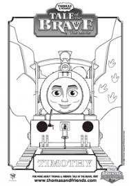tale brave timothy colouring picture thomas u0026 friends