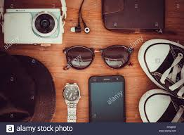 travel items images Travel items photo camera wallet watches headphones shoes jpg