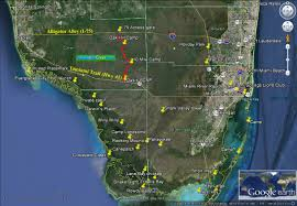 Everglades Florida Map by Tamiami Trail To Alligator Alley The Hard Way U2013 Through Hiking The