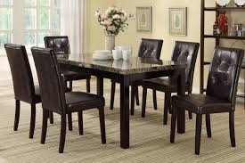 mabel 7 piece faux marble dining set