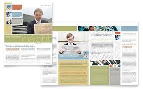 investment advisor newsletter template word u0026 publisher