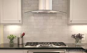 White Backsplash Kitchen by White Backsplash Tile 5 Modern White Marble Glass Metal Kitchen