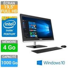 ordinateur de bureau asus pas cher asus ordinateur all in one v220iagk ba001x pas cher prix ordinateur