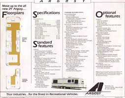 Airstream Trailer Floor Plans 1986 Argosy
