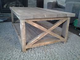 Build A End Table by Build A Rustic Coffee Table 8 Steps With Pictures