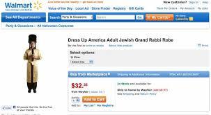Jewish Halloween Costume Walmart Dress Jewish Grand Rabbi Robe Costume