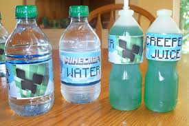 thanksgiving water bottle labels make do minecraft 8th birthday party