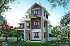 small plot double floor house architecture kerala home design