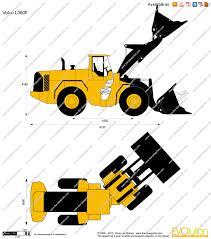 the blueprints com vector drawing volvo l350f wheel loader
