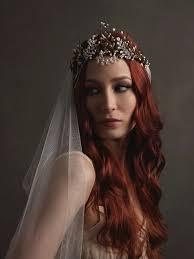wedding headdress silver wedding headpiece bridal veil boho crown