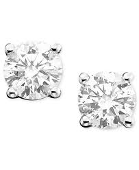 stud earrings diamond stud earrings 1 2 ct t w in 14k white gold or gold