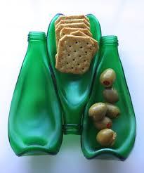 melted wine bottle platter rehabulous green melted wine bottle platter zulily