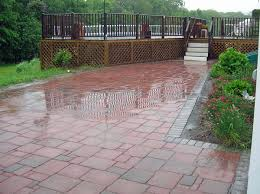 Concrete Pavers For Patio Patios And Walkways Photo Gallery