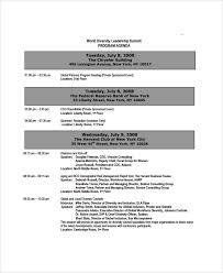 sample event agenda 7 documents in pdf wordevent agendas