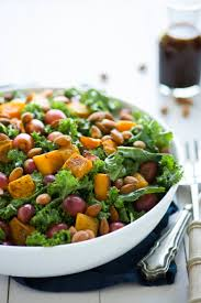 butternut squash for thanksgiving massaged kale salad with butternut squash and roasted grapes