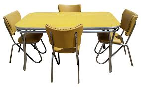 Retro Dining Room Furniture Vintage Midcentury Retro Yellow Dining Set Chairish