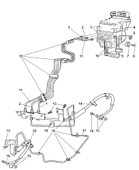 hcu lines and hoses brake front for 2005 dodge ram 1500