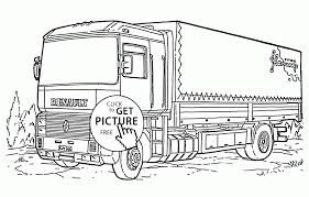 box truck coloring page for kids transportation coloring pages