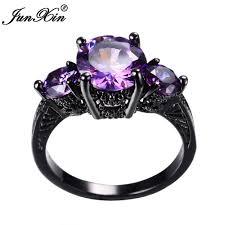 black and purple engagement rings junxin big black gold purple ring ring vintage