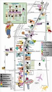 Las Vegas Airport Terminal Map by Las Vegas Strip Map