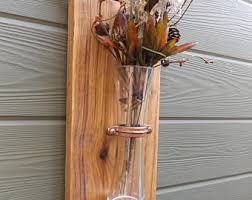 Vase Wall Decor Wall Vase Etsy