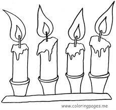 christmas christmas candle coloring page in style kids drawing