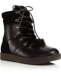 ugg australia s noira brownstone lyst ugg black noira leather mid calf boots in black
