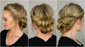 tuck in hairstyles tuck and cover french braid half with a bun youtube