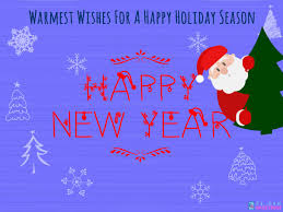 warmest wishes for a happy season new year greeting ecard