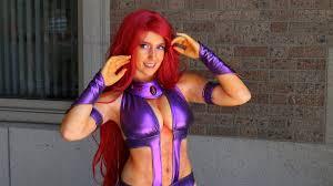 Starfire Costume Starfire Teen Titans Cosplay At Boston Comic Con 2015 Youtube