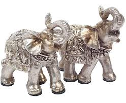 thai elephant ornaments 2 bloom artificial flowers