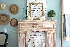 painting our faux fireplace seeking lavendar lane
