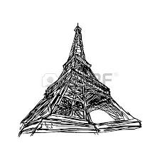 illustration vector doodle hand drawn of sketch paris eiffel
