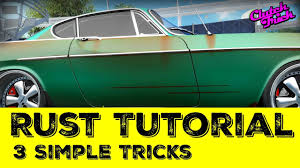how to paint rust tutorial youtube