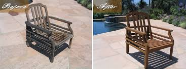 Refinishing Patio Furniture by Teak Restoration San Diego