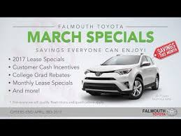 Car Dealerships On Cape Cod - march 2017 toyota specials at falmouth toyota bourne ma cape