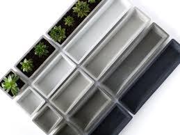 concrete succulent planter set mini rectangular por