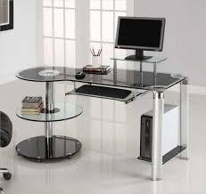 Curved Office Desk Desk Office Desk Black Glass Study Office Desks Uk Smoked Curved