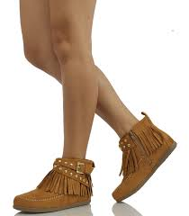 s boots with fringe amazon com soda s dahlia faux suede moccasin fringe wedge