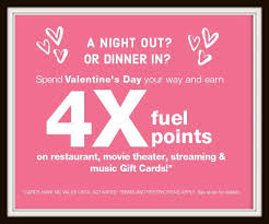4x fuel points on restaurants movie theater streaming and music