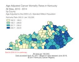 Uky Map Kentucky Cancer Registry