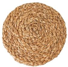 Round Seagrass Rug by Seagrass Braided Placemats Set Of 4 Couleurnature