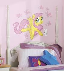 horse wall decals ebay fluttershy giant wall decals my little pony stickers new girls horse room decor