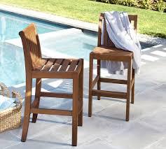 bar stool outdoor chatham barstool honey pottery barn