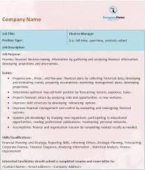 best photos of work description template job description