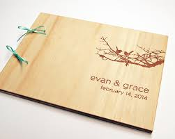 engraved guest book diy wood book binding best wood for cabinet