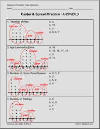 common core math worksheets for grade 6 the shape of data