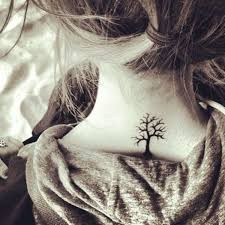 awesome tree on neck tattoomagz
